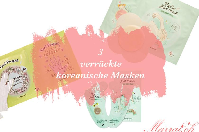 Verrückte koreanische Masken Test Erfahrungsbericht Niasha Etude House Schweizer Beautyblog Marrai.ch