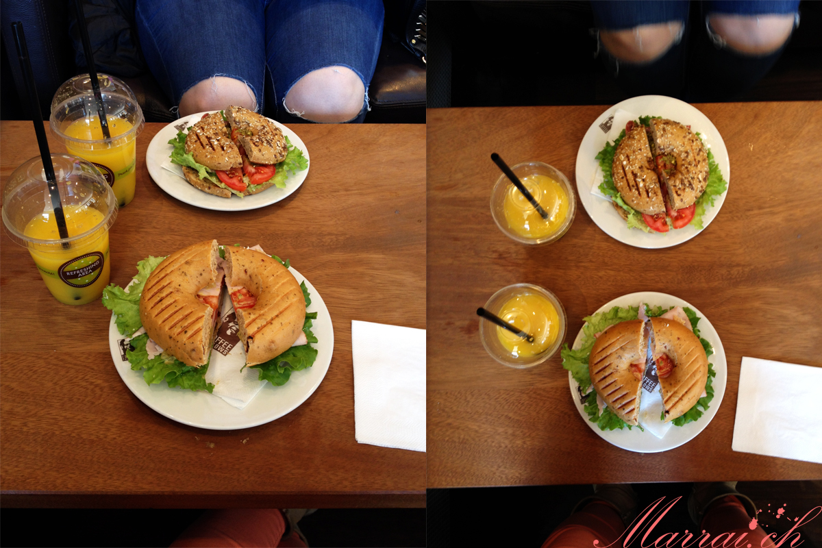 Coffee Fellows, Bagels, frisch gepresster Orangensaft