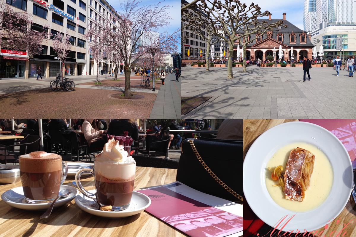 Café Hauptwache, Schoggi Mélange, Apfelstrudel