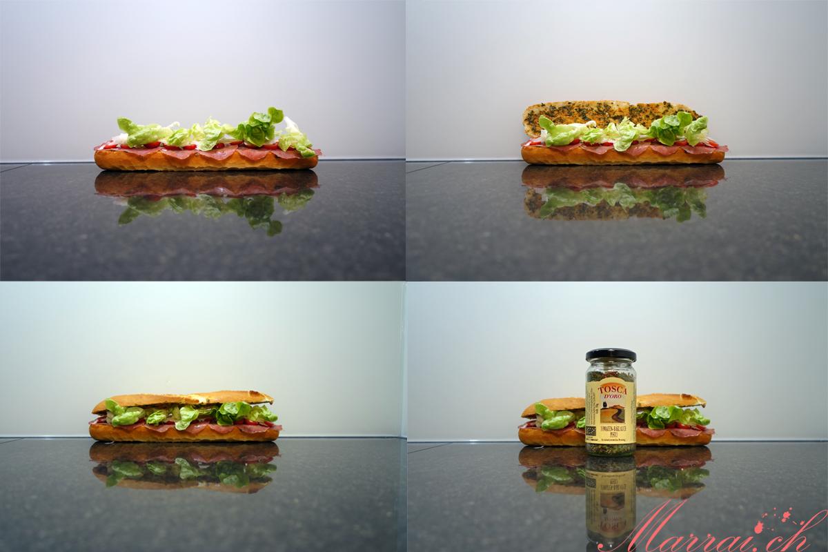 Tosca d'Oro Tomaten-Bärlauch Pesto Kräutermischung Sandwich