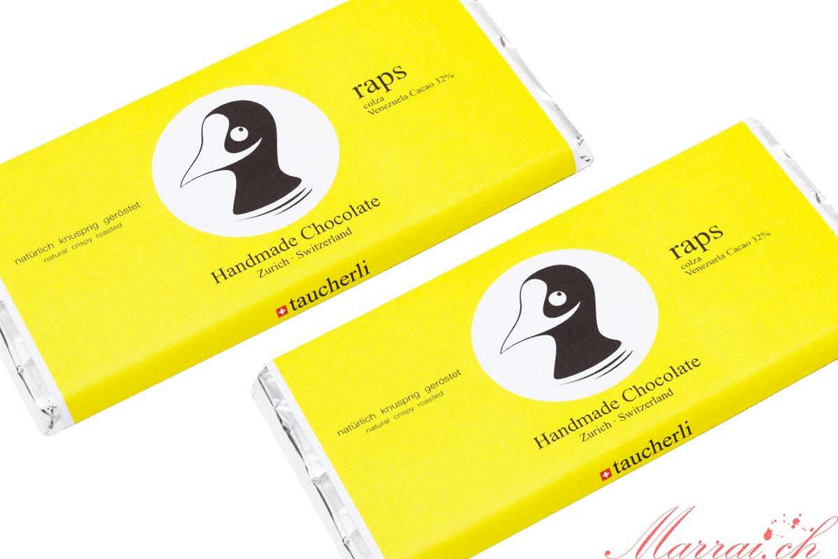 Taucherli Schokolade: Raps - Bilder gehören Taucherli