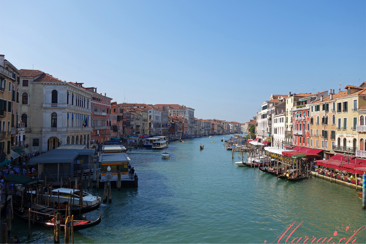 Blick von der Rialtobrücke - Venedig