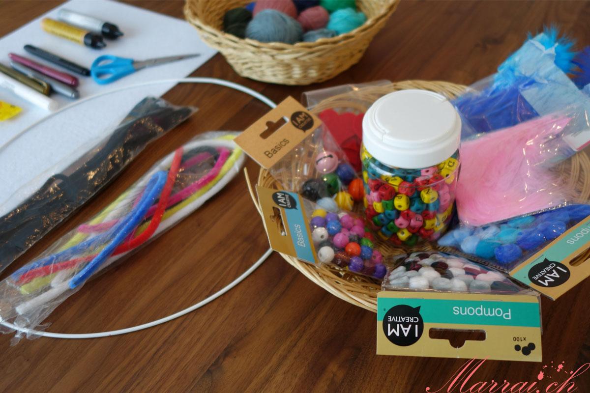Materialien für das Baby Mobile