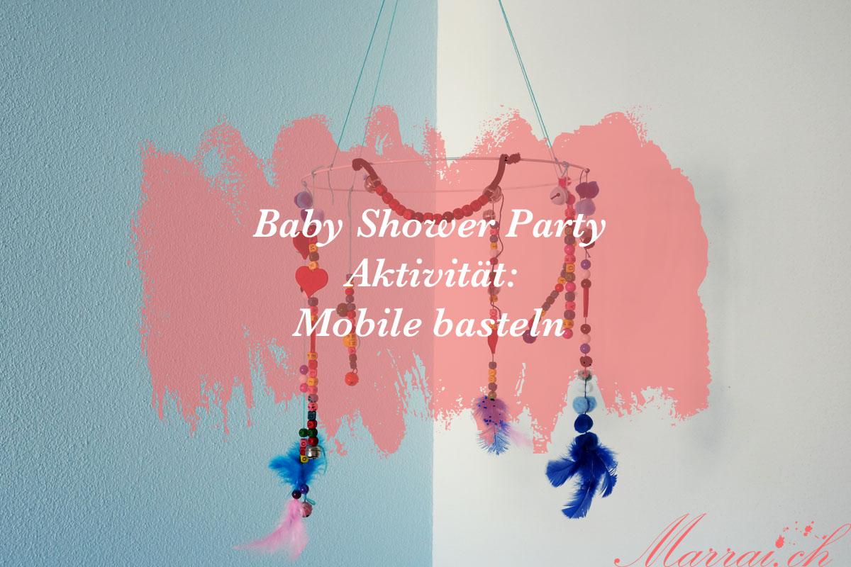 Baby Shower Party Aktivität: Mobile basteln