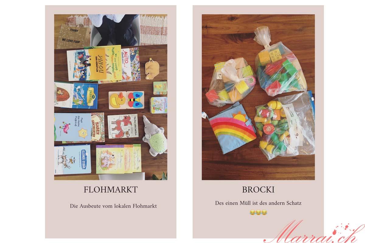 InstaStory von marrai.ch über Flohmarkt & Brockenhaus