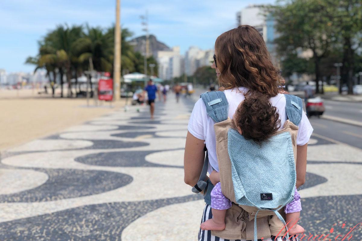Spaziergang an der Copacabana in Rio de Janeiro