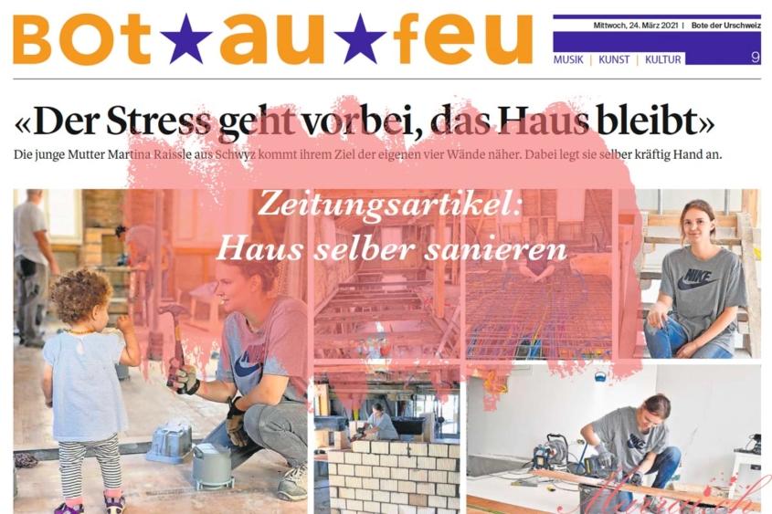 Zeitungsartikel Haus selber sanieren Schweizer Blog Marrai.ch